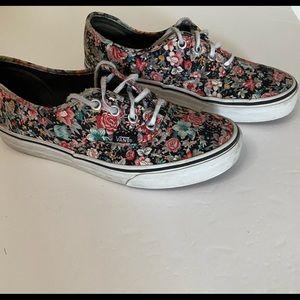 Vans women 7.5 men 6 floral shoe